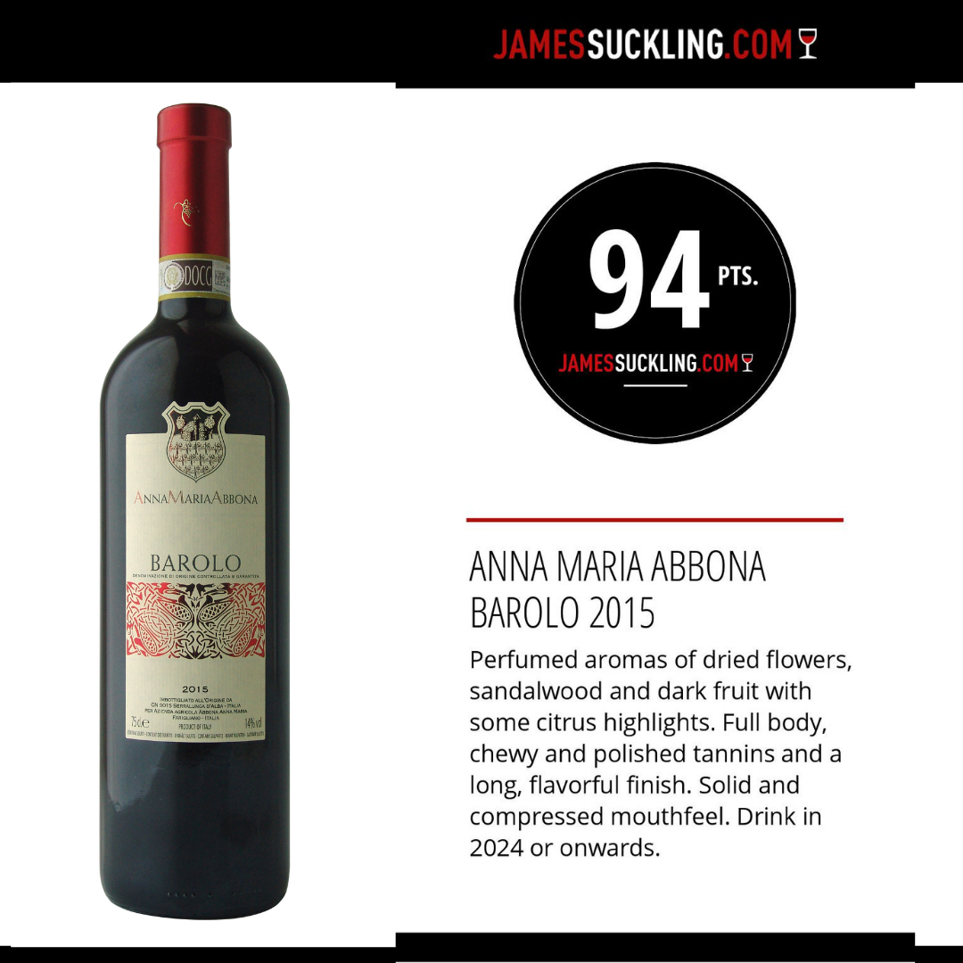 James Suckling Barolo
